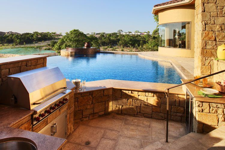 20 Lavish Poolside Outdoor Kitchen Designs on Outdoor Kitchen By Pool id=49020