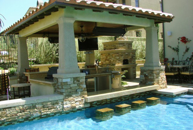 20 Lavish Poolside Outdoor Kitchen Designs on Outdoor Kitchen By Pool id=84798