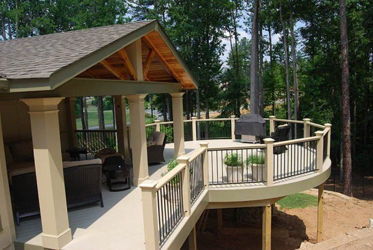 20 Stunning Covered Deck Ideas You'll Fall In Love With on Covered Back Deck Designs id=14452