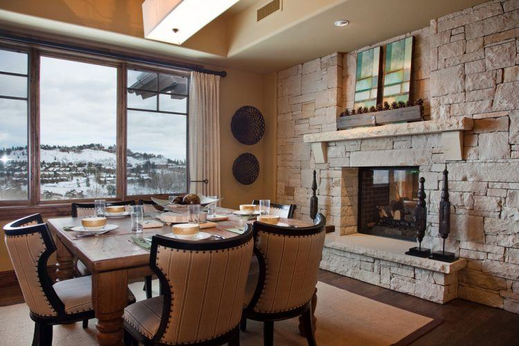20 Beautiful Dining Room Ideas With Fireplaces