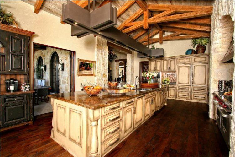 10 Of The Most Beautiful Rustic Kitchen Cabinets - Housely on Traditional Rustic Decor  id=79958