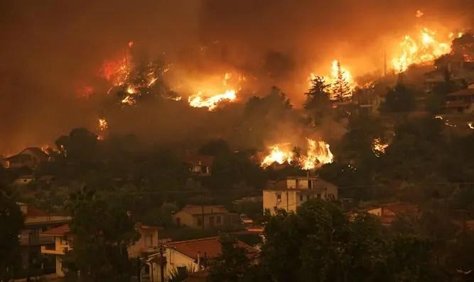 Israel ayudará a apagar incendios en Grecia - Canal 7