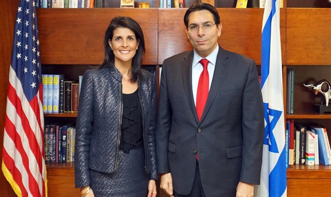 Israel's UN Ambassador Danny Danon Met with US Ambassador Nikki Haley