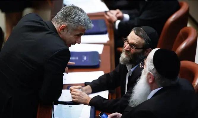 ¿Gafni, Saar y Lapid irán juntos a la coalición? - Canal 7