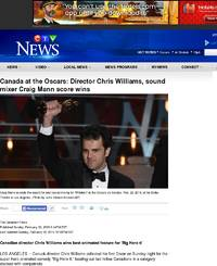 Canada at the Oscars: Director Chris Williams, sound mixer ...
