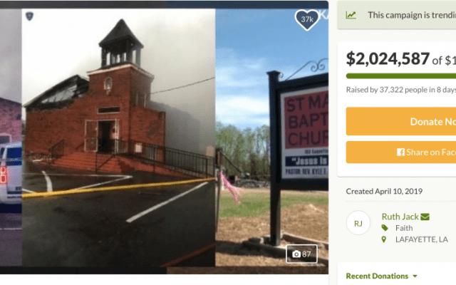 Over $2 Million Raised for Black Churches Burned Down in Louisiana