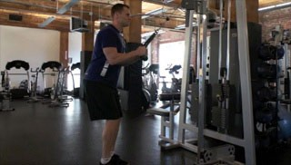 tricep extensions w/ cable machine - step 1