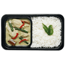 Thai Green Curry with Rice Seoul Food: AirAsia Menu & In-Flight Food Review Toronto Seoulcialite Airplane Food
