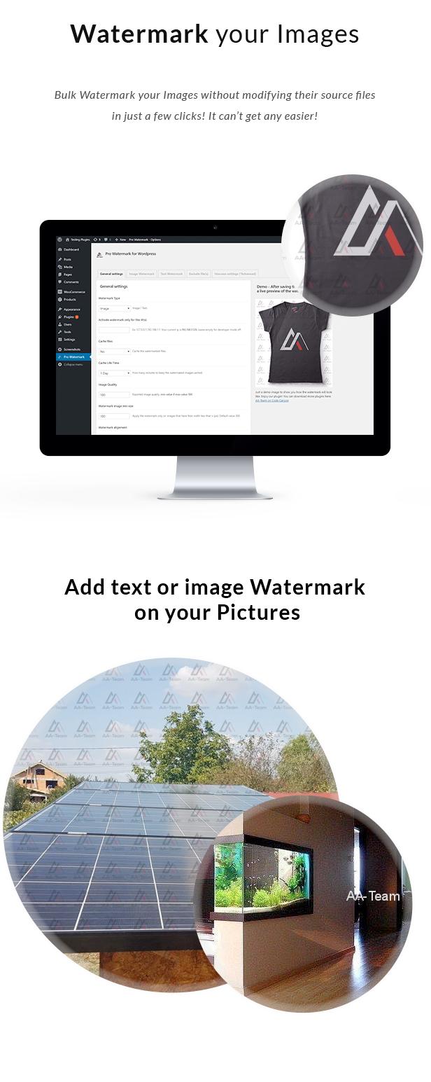 Pro Bulk Watermark Plugin for WordPress - 1