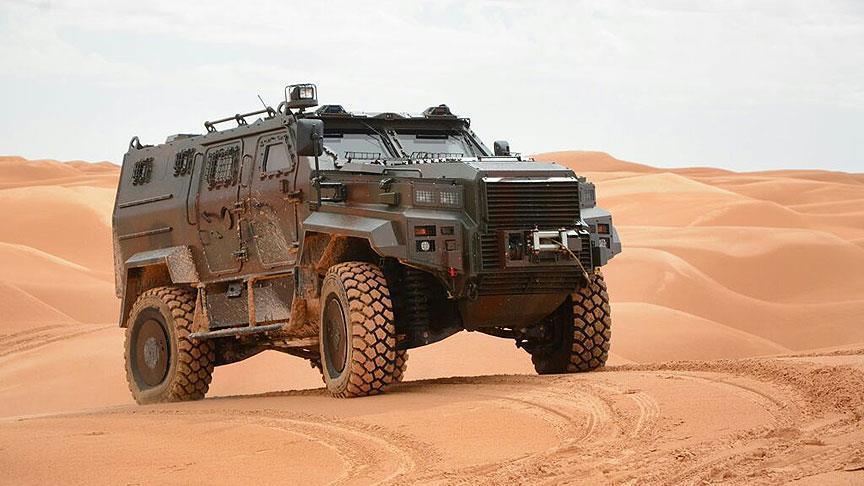 Turkish armored vehicle 'Dragon' en route to Africa