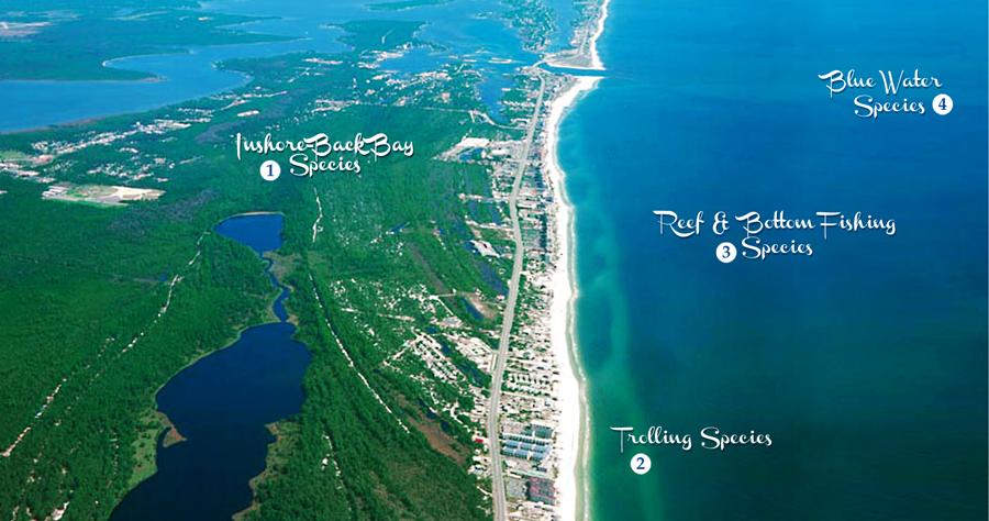 Alabama Gulf Coast fishing grounds