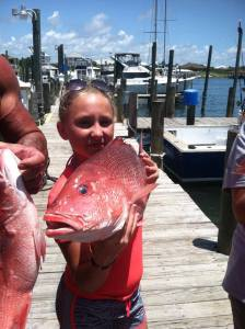 Having fun red snapper fishing in Gulf Shores AL
