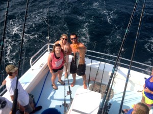 lady AZ anglers enjoying a gulf shores al near shore trolling trip