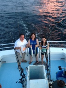 Alabama Gulf Coast near shore trolling trip for mackerel on a multi-passenger fishing boat
