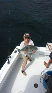 NC Lady Angler showing her BIG Tiggerfish are being caught along the AL Gulf Coast Spring 2015