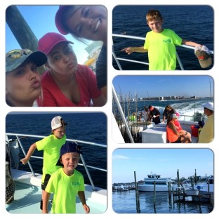 kids having a blast leaving Perdido Pass in Orange Beach AL for a day of affordable deep sea fishing