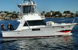 Jamie G six passenger fishing charter boat docked in Orange Beach AL