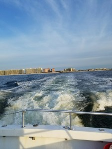 Headed south from Perdido Pass Deep Sea Fishing on the party boat Miss E