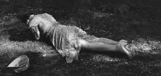 woman lying on ground