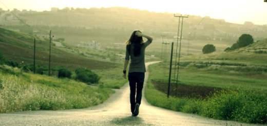 Walking away I