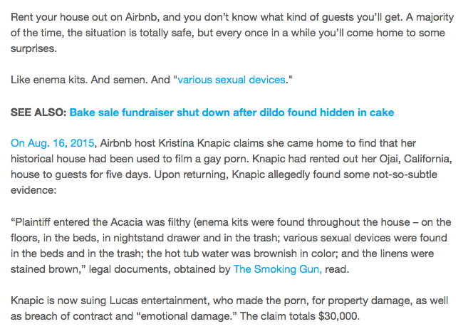 airbnb トラブル 事例 海外 事件 逮捕 訴訟