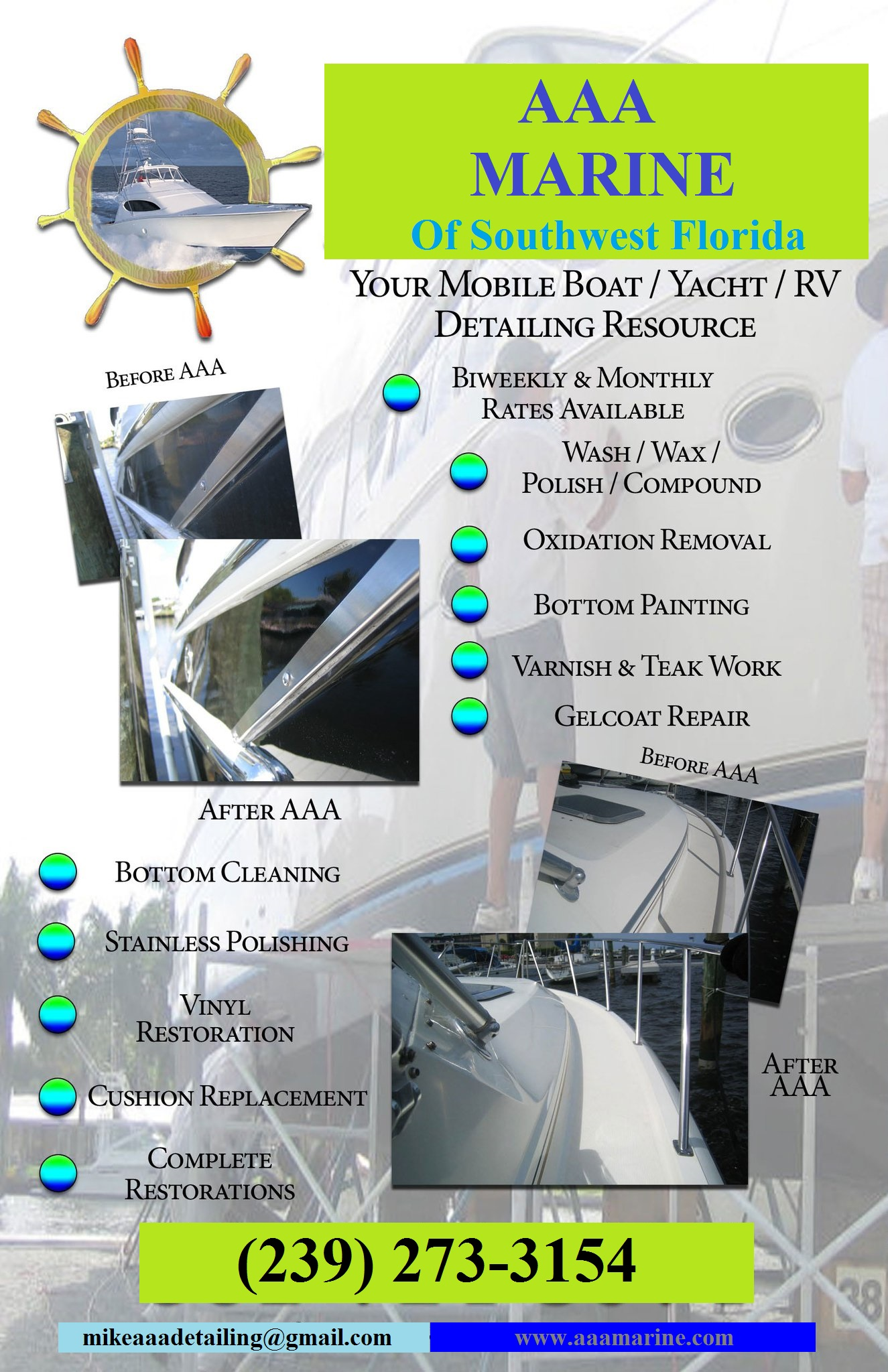 AAA Marine Inc Of Southwest Florida AAA Marine Inc Offers Affordable And Professional Boat