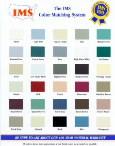 Gutter Color Chart