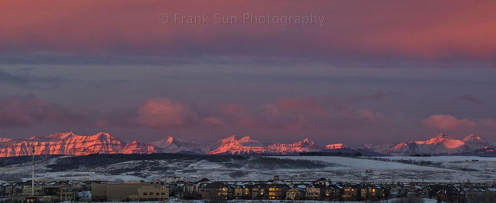 Sunrise at Rocky Mountains - Calgary 02
