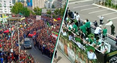 استقبال المنتخب الجزائري