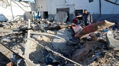 قصف مركز المهاجرين الليبي