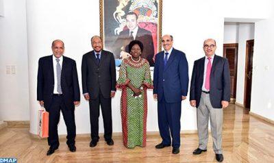 خليهن ولد الرشيد ورئيسة البرلمان الأوغندي