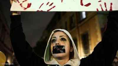 """اسبانيا..احتجاجات ضد حكم """"مخفف"""" على """"مغتصبين"""""""