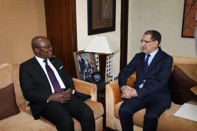 رئيس الحكومة يستقبل رئيس الجمعية الوطنية بجمهورية الغابون