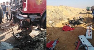 مصرع 12 شخصا في حادثة سير شمال مصر