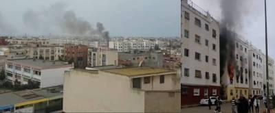 حريق شقة بسلا تابريكت