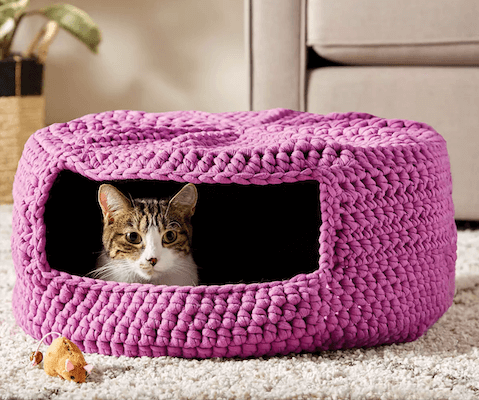 Crochet Cat Bed from Joann