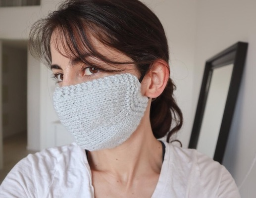 knit face mask from love crafts
