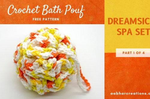 crochet bath pouf aabharcreations