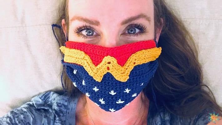 Wonder Woman Crochet Face Mask Cover