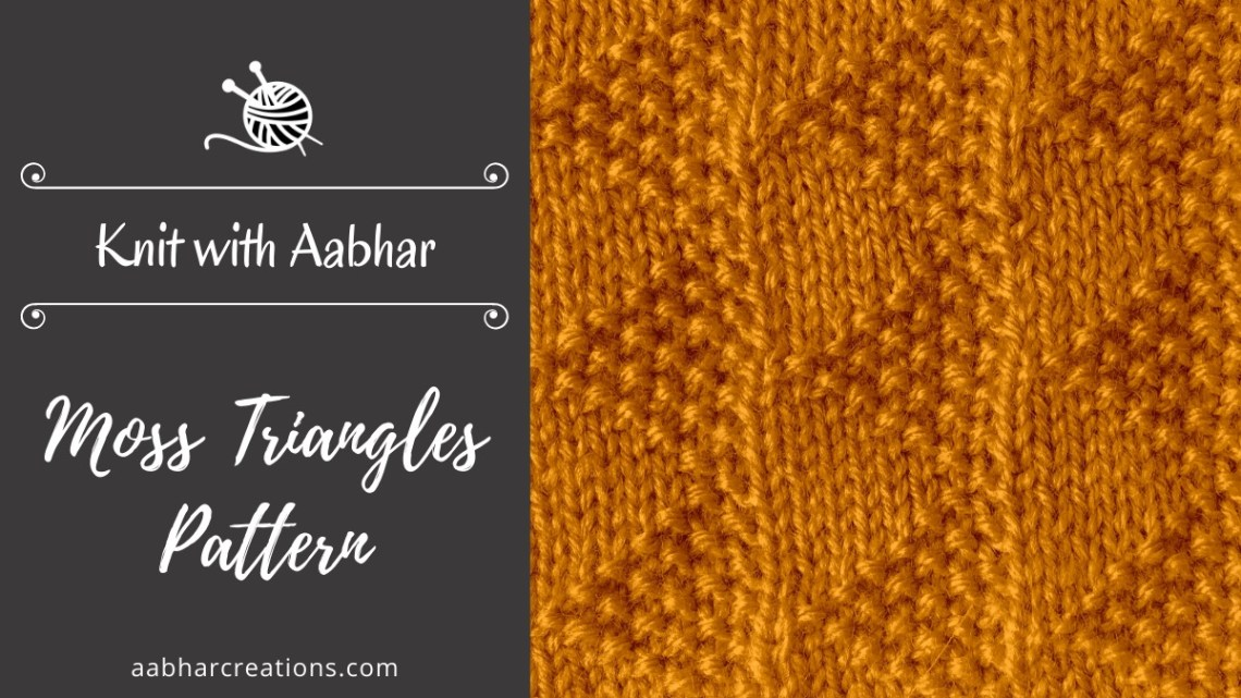 Moss Triangles Stitch aabharcreations