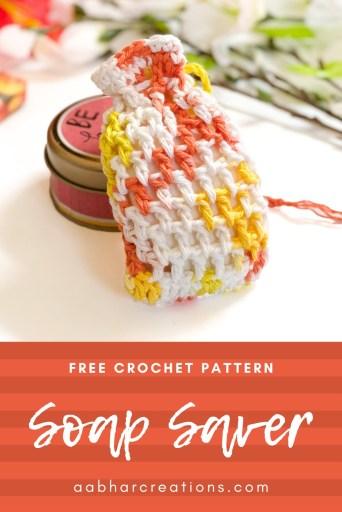 crochet soap saver dreamsicle spa set aabharcreations