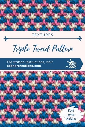 Triple tweed Pin aabharcreations