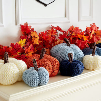 Caron Harvest Crochet Pumpkins