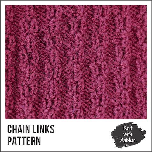 Chain Links Stitch Pattern