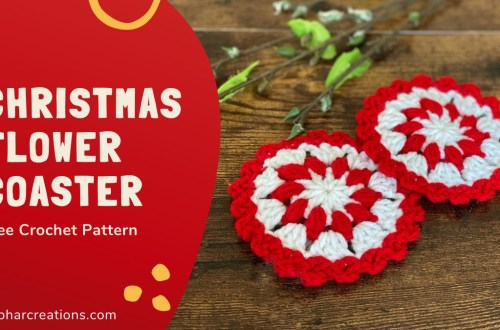 Christmas Flower Coaster Featured