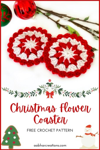 Christmas Flower Coaster Pin