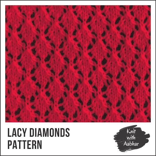 Lacy Diamonds Stitch Pattern