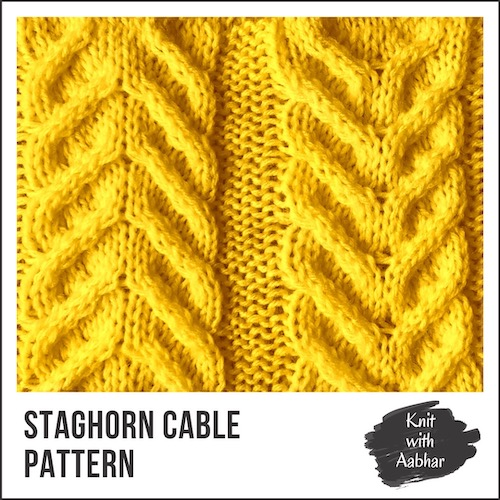 Staghorn Cable Stitch Pattern