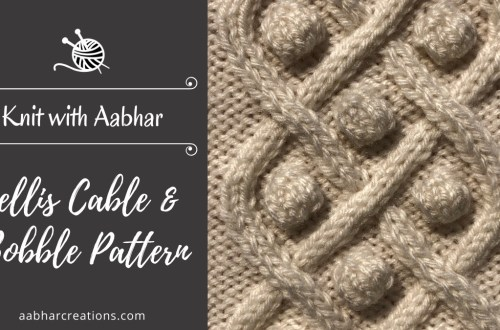 Trellis Cable and Bobble Stitch Featured