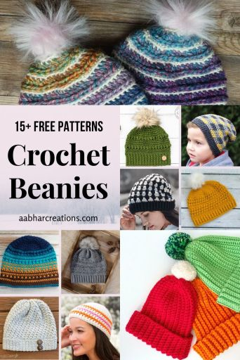 crochet beanie pattern roundup aabharcreations